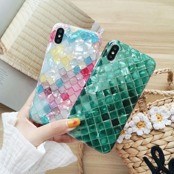 3D Escala De Pescado Funda Para iPhone 6 7 X Funda Coque Para iphone6 6s plus 7/8 iphone xs Funda Cute 8 Plus