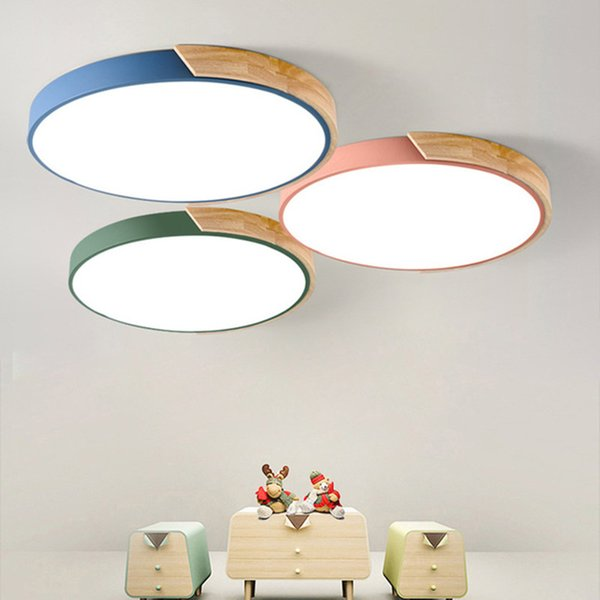 new style ab58f 2ce57 2019 Nordic Minimalism Oak Dimmable Led Ceiling Lights Living Room Round  Alloy Led Ceiling Lamp Chandeliers Bedroom Led Ceiling Light Fixtures From  ...