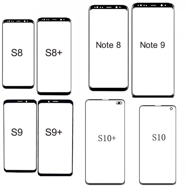 Front Outer Glass Lens Touch Panel Cover Replacement For Samsung S10 S10 Plus S10E S9 S9 Plus Note 9 Note 8 Front Screen Lens