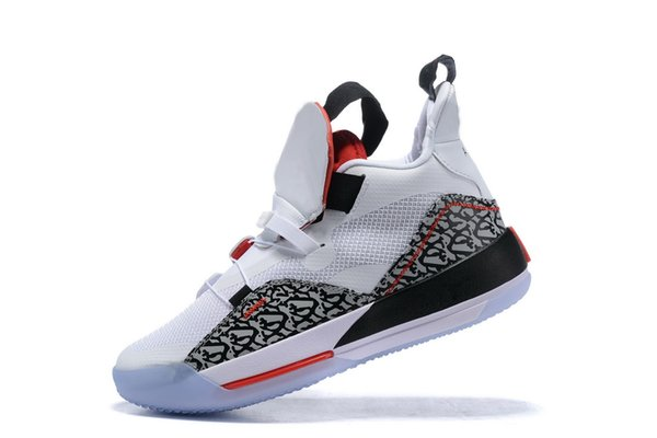 New Mens Jumpman XXXIII 33 Cement Basketball Shoes 33s Multicolors Tech Pack CNY Sports Trainers Sneakers Size 40-46