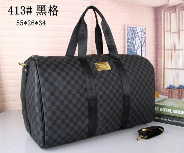 2016 neue Art und Weise Männer Frauen Tasche Seesack reisen, Handtaschen aus Leder Gepäck mit großer Kapazität Sporttasche 55CM