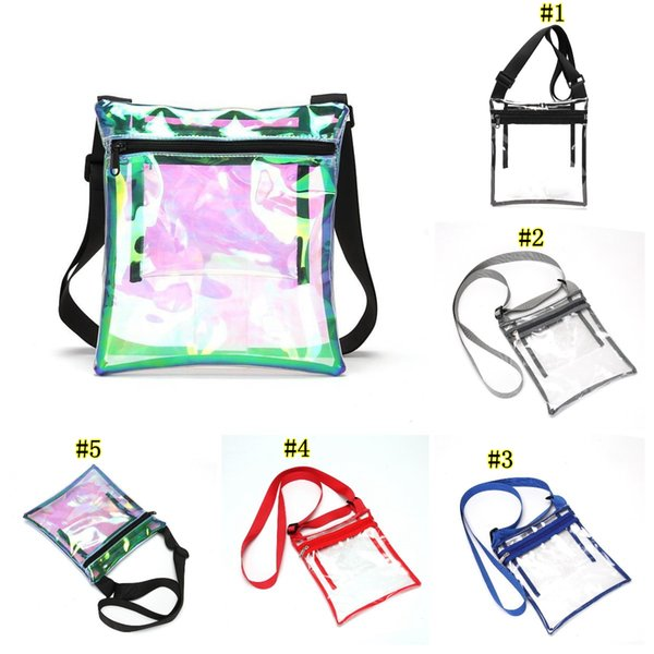 TPU PVC Clear Cross-Body Purse Stadium Approves messenger Bag with Inner Pocket for Sports Event Concert Festival MMA2484