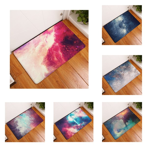 Galaxy Universe Star Nebula Mat Bath Carpet Decorative Anti-Slip Mats Room Car Floor Bar Rugs Door Home Decor Gift