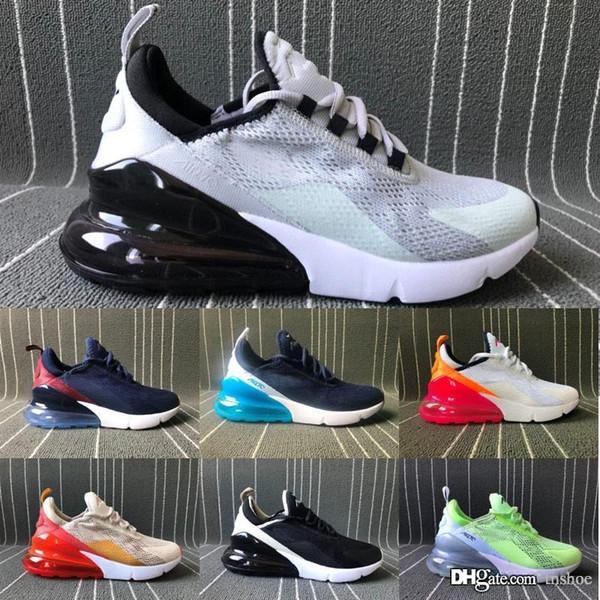 2019 New Nike Air Max 270 Designer Throwback Future Schwarz Weiß Herren Freizeitschuhe French Splashing ink Fashion Damen Sneakers Trainer 36-45