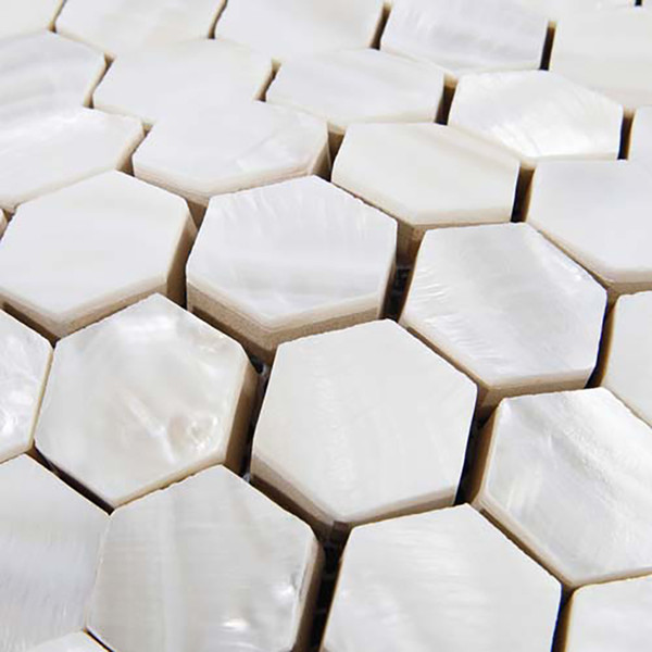 Hexagon Mother of pearl tiles white mother of pearl kitchen backsplash bathroom tiles MOP135 shell tiles