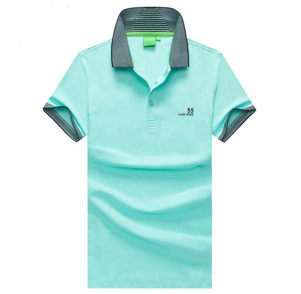 Боссы Мужского конструктор Polo ShirtPolo Hugo Limited Повседневное Британский бизнес Марка письмо Solid Color Private Пользовательских моды T-Shirt сс