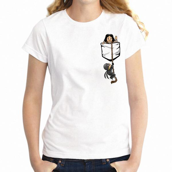 Kadın T Gömlek Prenses Gelin Cep Gömlek Komik Kız Tee