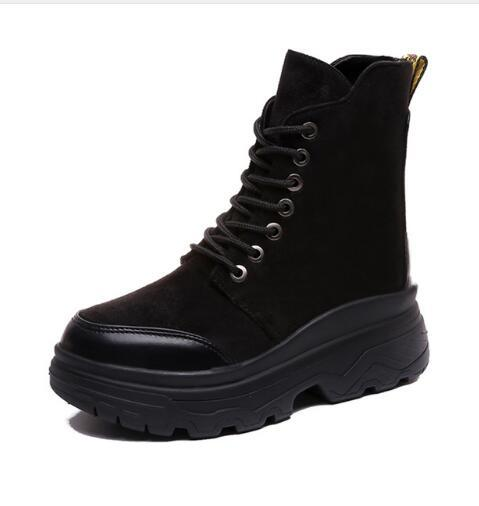 Femme Femmes Combat Acheter Dames Rond Bottes Chaussures Plat Militaire Noir Bout D'hiver Bottes Bottes Botte Bottines De Plateforme Femme De33 96 mv8yNn0wO