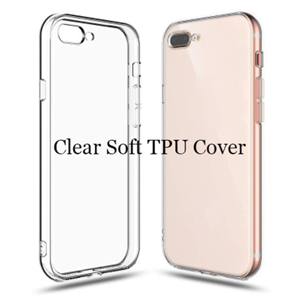 Soft TPU Clear Skin Silicone Phone Cover Protective Case for iphone 7 8 plus X XR XS max samsung S10 S10 Plus moto E5 Plus LG stylo 5