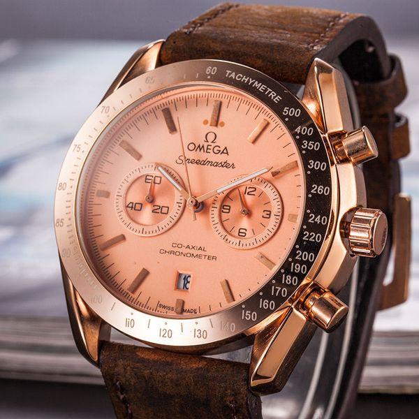 Mens fashion Brand sports watch Casual Men Wrist Watch Top Brand Luxury Quartz-Watch leather strap Military Male Clock orologio uomo