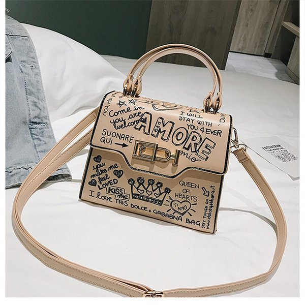 Designer Handbags Letter Graffiti Designer Crossbody Fashion Personality Handbag Female Trend Show Edition Single Shoulders Slant Bag Newest