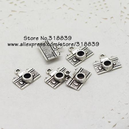 Charms in lega di zinco in lega d'argento del metallo dell'annata misura i monili fai-da-te di fabbricazione di gioielli di fascini 50pcs / lot 7206