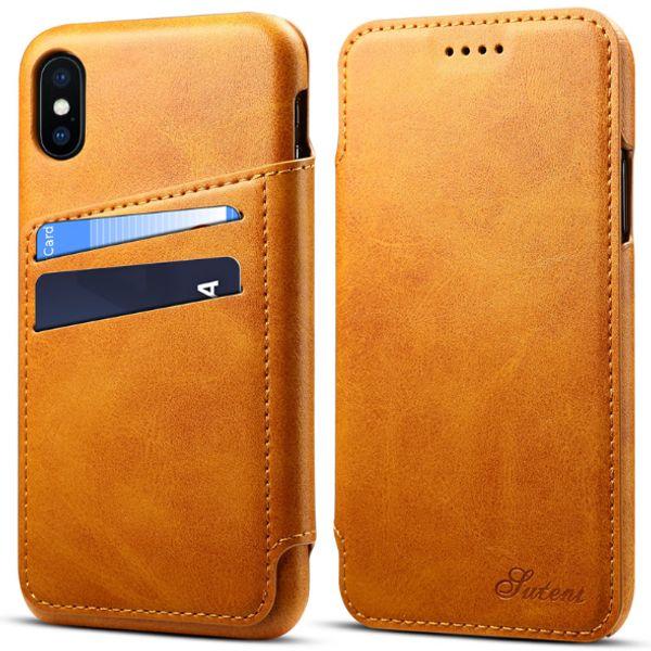 Nouvelle application de l'iPhone XS Max veste de téléphone portable Apple 8plus veste en cuir à rabat Etui de protection pour carte XR 7 Portefeuille