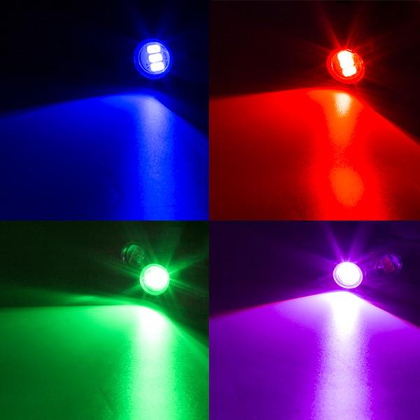 Otomatik Eagle Eye DRL LED Lamba 18 MM 2 W 5630 Gündüz Koşu Işık Su Geçirmez araba Arka Lambaları ışık LED Sis ampul Araba çalışma Işığı