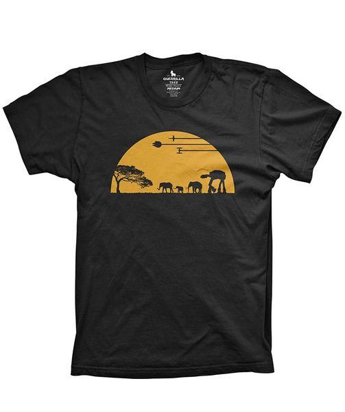 T-shirt de guerrilha em camisas de filme T-shirt de camisetas engraçadas de filme