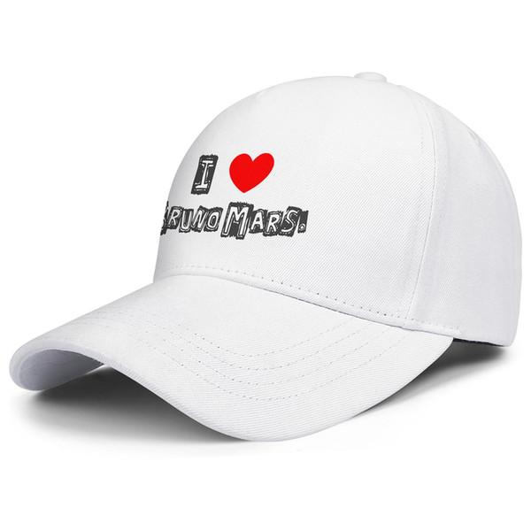 I love bruno mars white for men and women trucker cap ball design fitted uk hats