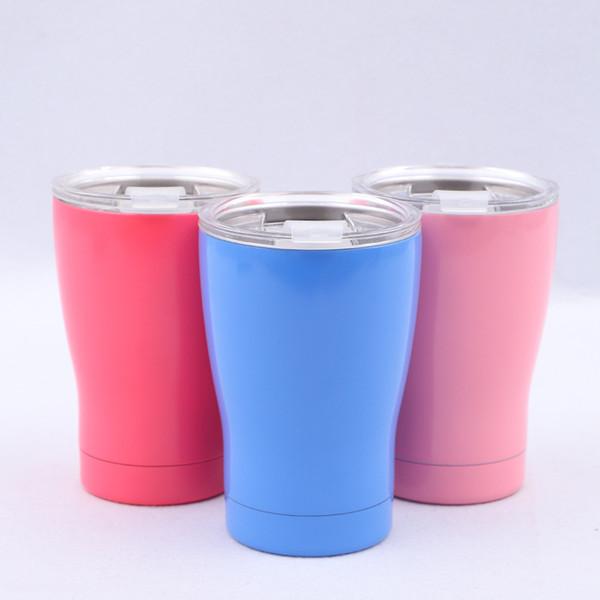 Spor Soğuk Vakum Bardak Erkekler Ve Kadınlar Kupa Paslanmaz Çelik 16 oz Kahve Süt Çay Bardak Pembe Mavi Anti Aşınma Güçlü Sızdırmazlık 21 5jn C1