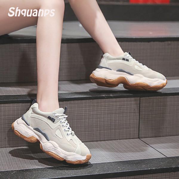 2019 Chaussures Femme Maille Plateforme Respirante Baskets Femme De Sport Chaussures Marque Casual Chaussures Zapatillas Mujer Scarpe Donna Krasovki