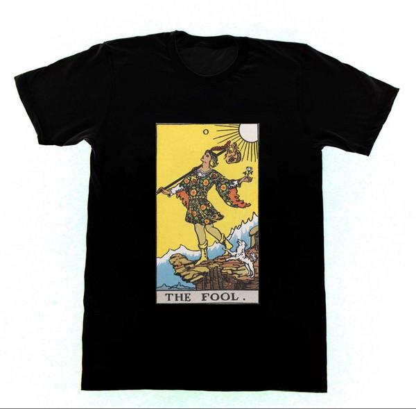 O Tolo Camisa T7 Tshirt Ryder Tarot Cartão Cartomancia Oculto WitchcraftFunny frete grátis Unisex presente Ocasional
