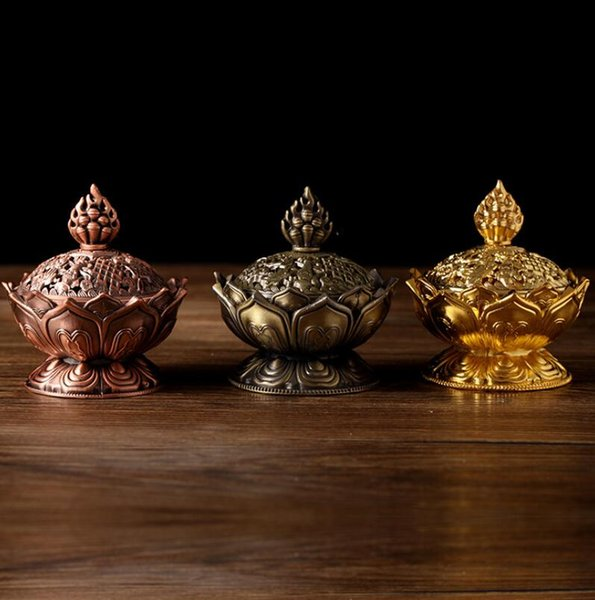 Babao incense burner For the Buddha's scented incense stick ancient alloy incense burner Home aromatherapy stove ornaments Buddhism supplies