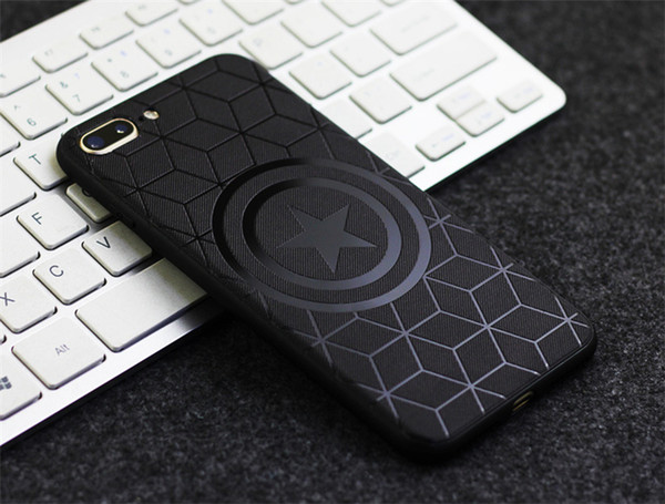 New TPU mobile phone case, suitable for iphone models, men's black embossed protective case.For 6/7/8/X/XR/XSMAX