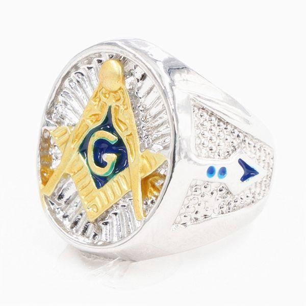 Anelli punk dell'anello mens del blu del totem massonico massonico iperbole per gli uomini che dropshipping i gioielli in serie