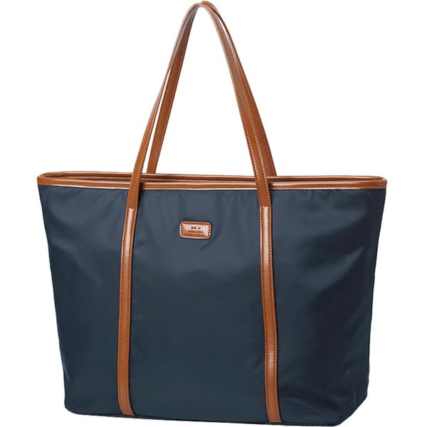 New Design Lunch Bag Tote for Women Leather Nylon Shoulder Bag Women's Oxford Large Capacity Work