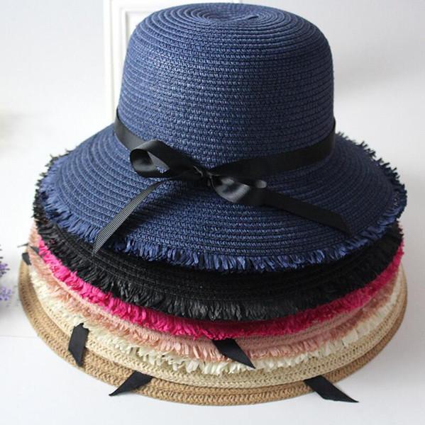 Fashion Summer Men Women Straw Panama Hat Sombrero Fedora Trilby Cap Wide Brim Sunbonnet Sunhat