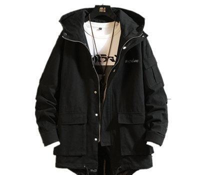 Camo Autumn Long Jacket For Men Winter Streetwear Embroidery Mens Youth Coat Loose Korean Male Jackets