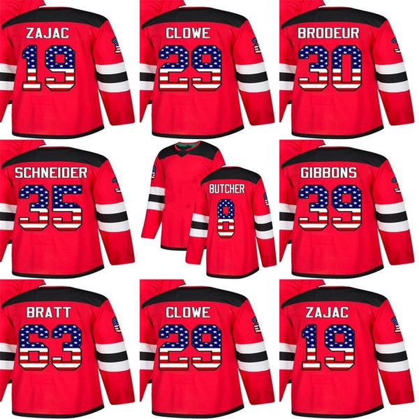2019 Custom Mens Momens Kids New Jersey Devils 19 Travis Zajac 29