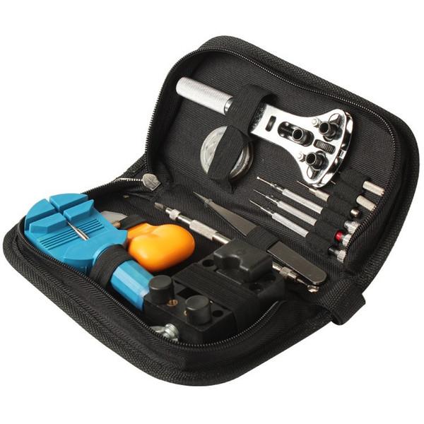 Free Shipping 13Pcs Portable Watchmaker Tools Pin Remover Adjuster Case Opener Wrist Watch Repair Tool Set Kit DIY Tools