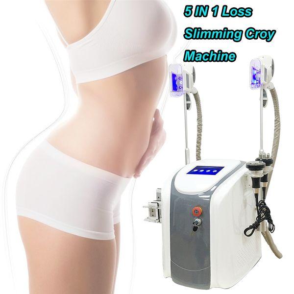 Máquina ultra-sônica do tratamento do emagrecimento do rf da cavitação 40K máquinas gordas rápidas do shap do corpo do sistema do emagrecimento do gelo que dobra 2 o punho gordo do gelo trabalha junto
