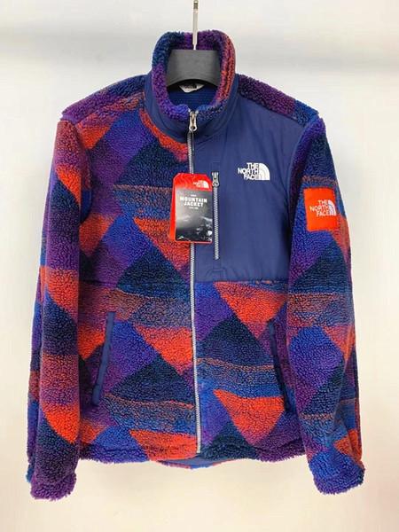 Sonbahar ve kış 19 yeni stil Kuzey Kuzu derisi jakarlı erkek ve kadınlar kalın sıcak ceket ceket M-2XL