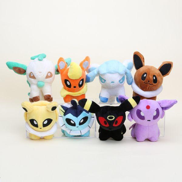 Pokemon Juguetes de peluche Muñecos rellenos Umbreon Pikachu Eevee Juguetes Espeon Jolteon Vaporeon Flareon Glaceon Animales Muñecos rellenos