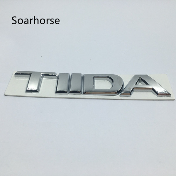 Soarhorse Car Styling 3D Chrome Emblem For Nissan TIIDA Sticker Refit Accessories Letter Trunk Badge Modified Decal
