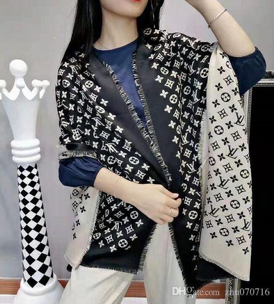 Luxury Winter Cashmere Scarf Pashmina For Women Brand Designer Mens warm Plaid Scarf Fashion Women imitate Cashmere Wool Scarves 180x70cm