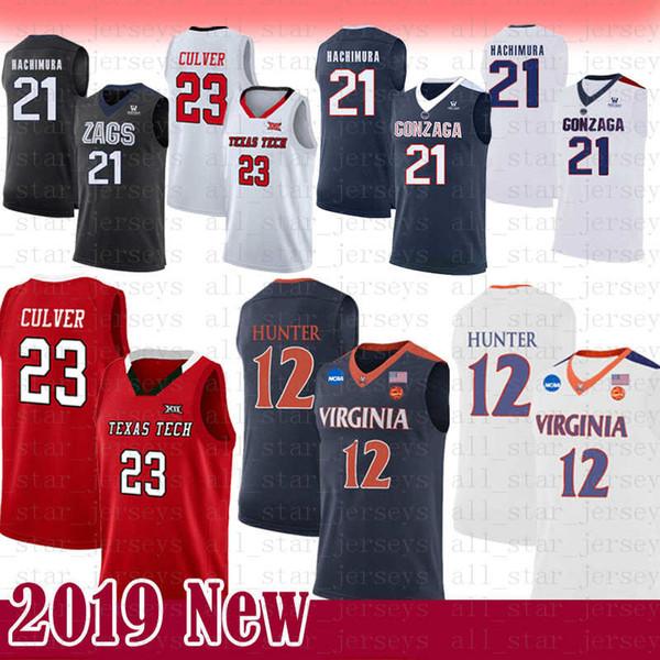 NCAA Gonzaga Bulldogs 21 Rui Hachimura Basketball Jersey 23 Jarrett 23 Culver 35 Kevin Texas Tech Red Raiders Durant College