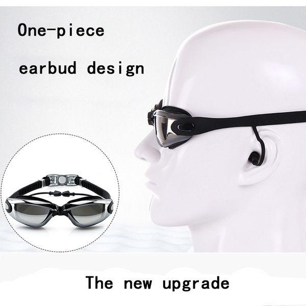 wimming Eyewear Swimming Goggles with Earplug Professional Swim Goggles Adult Men Women Silicone Swim Pool Glasses Anti Fog Eyewear Ear P...