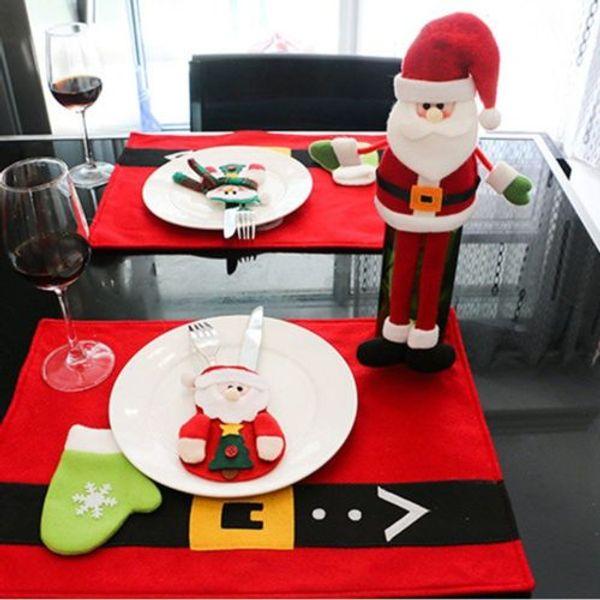 Dekorasyon Kol Ürünler Masaüstü Noel Bıçak ve Çatal-YENİ Bıçak Ve Çatal Seti