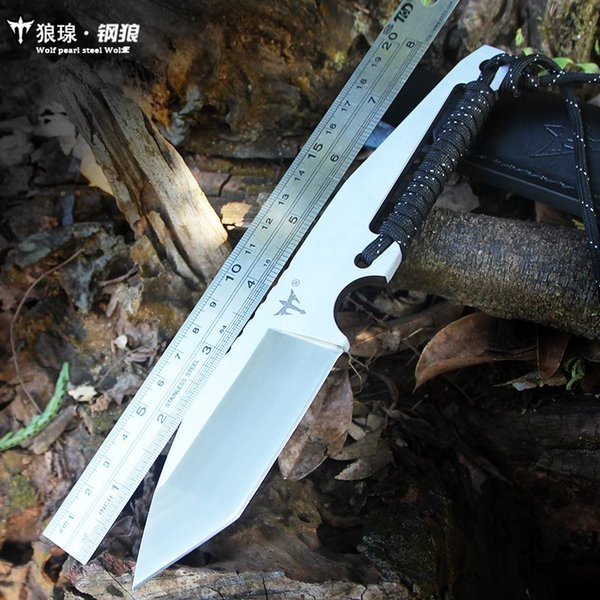 Voltron steel wolf straight knife, field survival outdoor saber self-defense with knife high hardness EDC knife