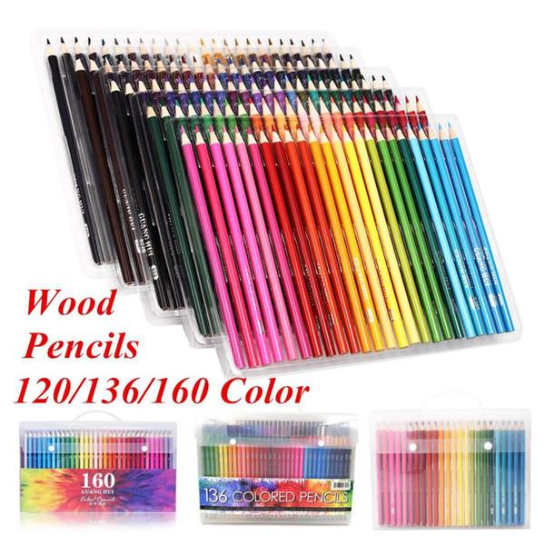 Compre 120136es Juego De Lápices Lápiz De Color De Madera Lápices De Dibujo Profesionales Para La Oficina De La Escuela Artista Pintura Suministros