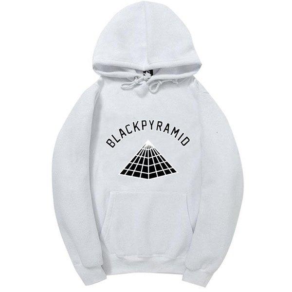 2017 neueste Chris Brown SCHWARZE PYRAMIDE Hip Hop Hoodies Männer Und Frauen Sweatshirts Skateboard Straße Stil Baumwolle Trainingsanzug Hoodie