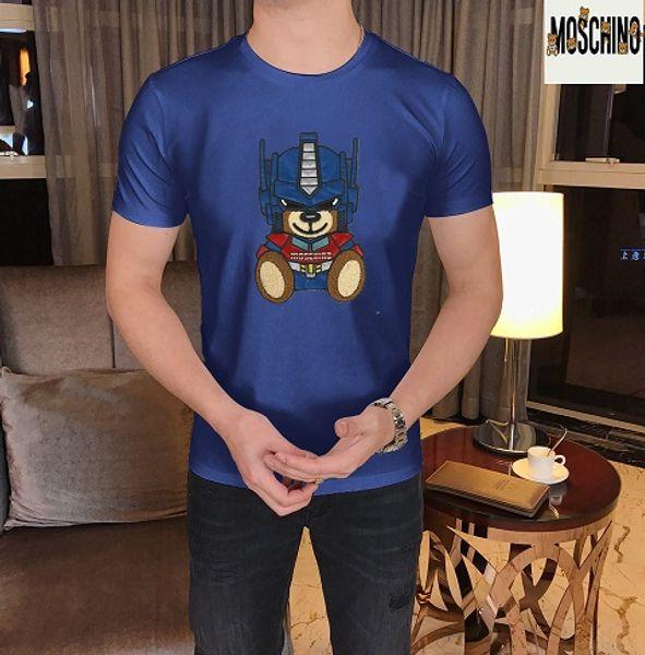 T-shirt à manches courtes à manches courtes pour hommes en coton avec impression coton et coton imprimé été