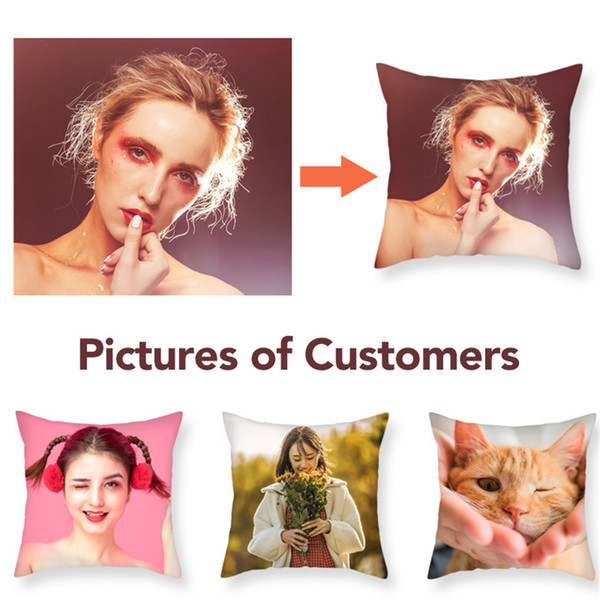 Fuwatacchi Design Picture Here Personal Photo Wedding Pet Photos Customize Gift Throw Pillowcase Home Cushion Cover Pillow Cover