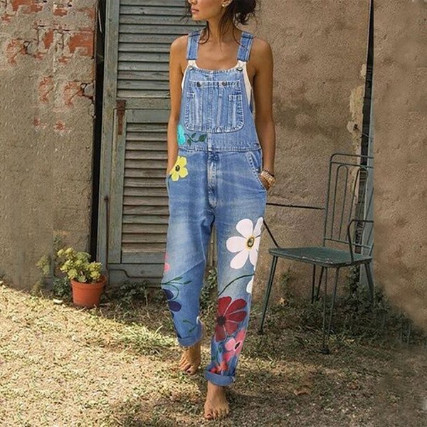 Rompers Womens Jumpsuit Stylish Harem Jeans Strap Overalls Women Vintage Girls Denim Bib Pants Streetwear macacao feminino D25 LY191116