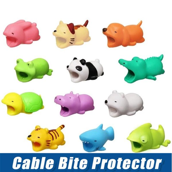 Niedliches Tier beißen USB-Blitz-Ladegerät-Datenschutz-Abdeckung Mini-Drahtschutzkabel-Kabel-Telefon-Zubehör 36 entwirft kein Kleinpaket
