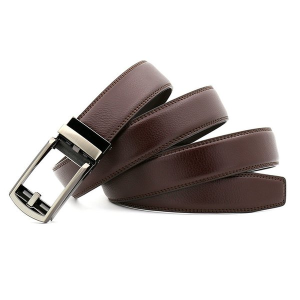 top popular Men Belt Designer Cow Genuine Leather Belts Man Automatic Buckle Cowhide Belts Luxury COMFORT CLICK belt Black Brown 2019