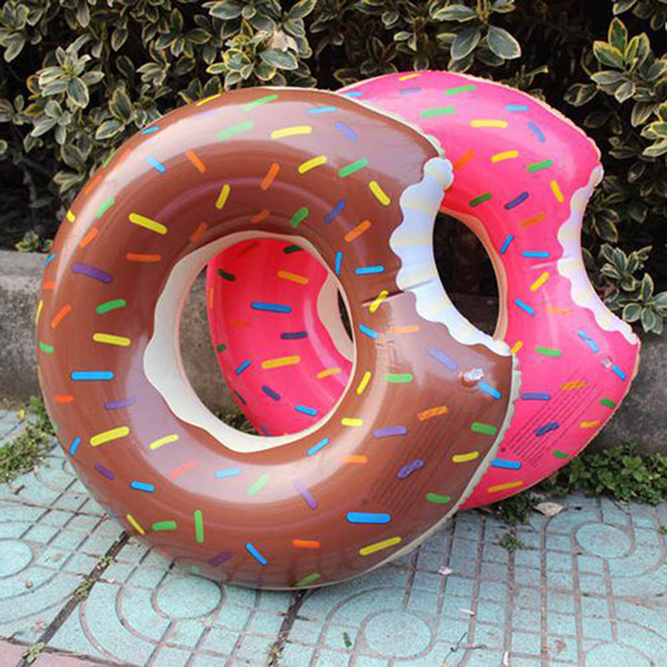 best selling wholesale hot 90cm Donut Swim Ring Adult Super Large Gigantic Doughnut Pool Inflatable Life Buoy Swimming Circle Ring Wholesale