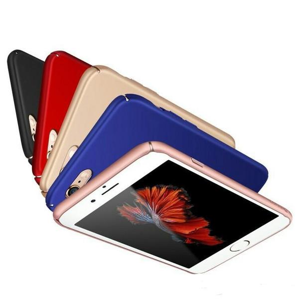 Luxo hard case capa fosco pc tampa traseira full frame proteção para iphone x xr 7 7 plus 8 8 plus 6 6 plus tampa traseira
