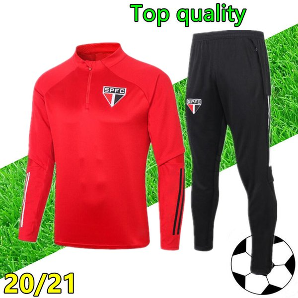 best selling 20 21 sao paulo soccer tracksuit 2020 2021 Sao Paulo football training suit jogging chandal futbol survetement foot